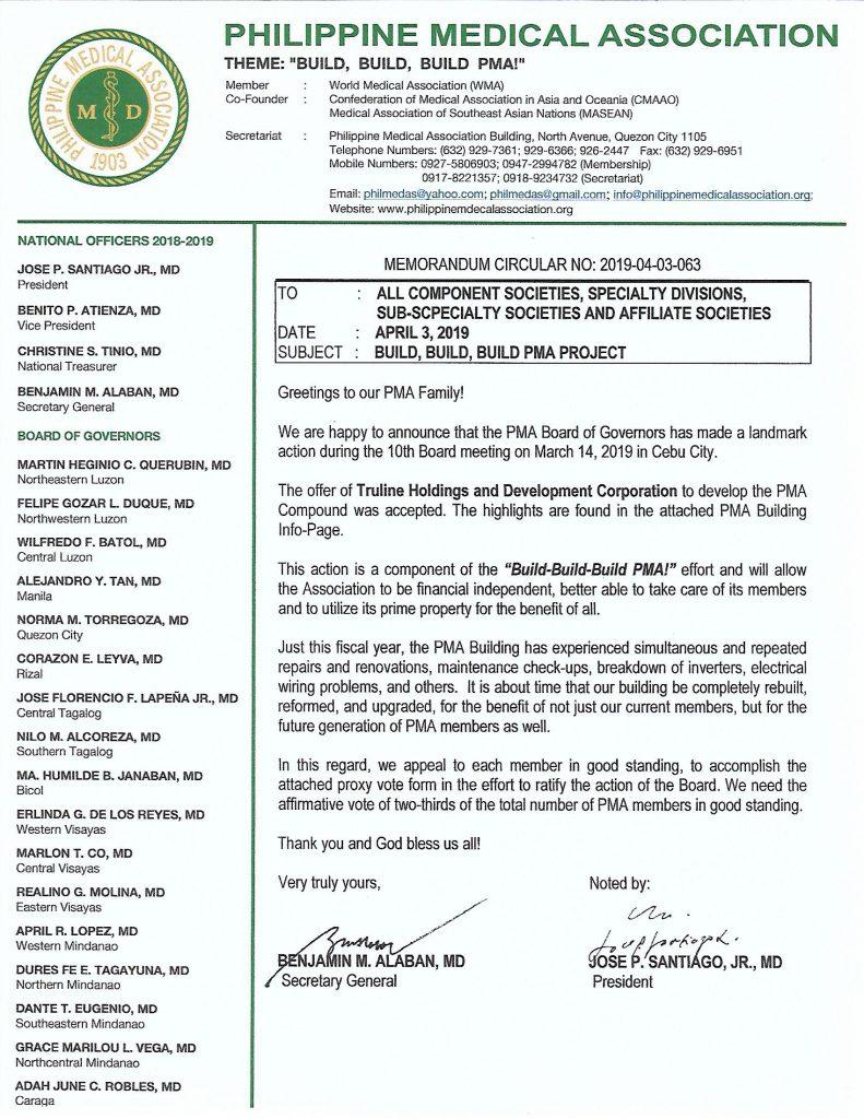 PMA Building Project – Philippine Medical Association